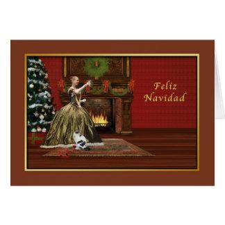 Cartes Noël, Feliz Navidad, Espagnol, old-fashioned