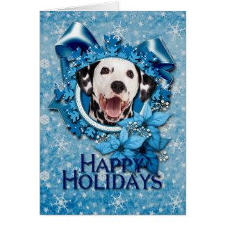 Cartes Noël - flocon de neige bleu - Dalmate