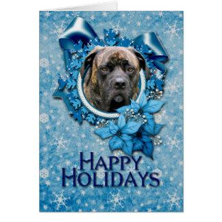 Cartes Noël - flocon de neige bleu - mastiff - cyclone