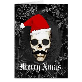 Cartes Noël gothique drôle de Père Noël