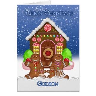 Cartes Noël Gree de Chambre et de famille de pain d'épice
