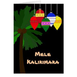 Cartes Noël hawaïen lumineux