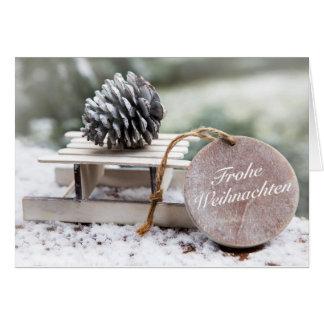 Cartes «Noël heureux» avec des transports