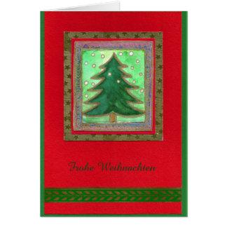 Cartes - Noël heureux WEIHNACHTSBAUM-AQUARELL-COLLAGE