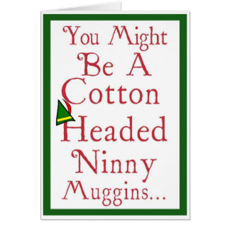 Cartes Noël - idiot de Ninny