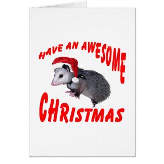 Cartes Noël impressionnant d'opossum