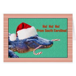 Cartes Noël, la Caroline du Sud, alligator