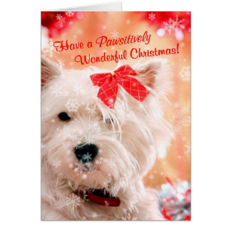 Cartes Noël merveilleux de Westie souhaite 3 -