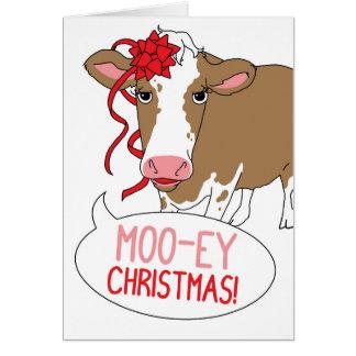 Cartes Noël MOO-ey !