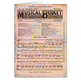 Cartes Noël musical de budget