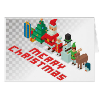 Cartes Noël - Noël de Crossy