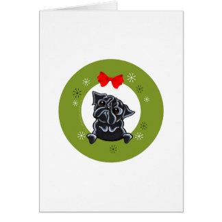Cartes Noël noir de carlin