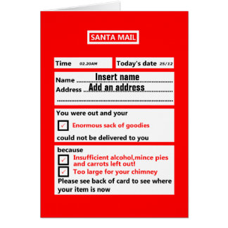 Cartes Noël personnalisable drôle