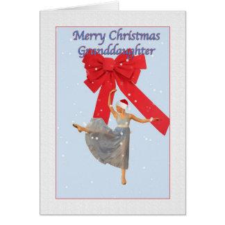 Cartes Noël, petite-fille, ballerine