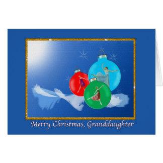 Cartes Noël, petite-fille, ballerines