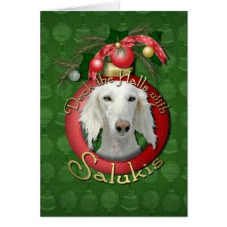 Cartes Noël - plate-forme les halls - Salukis