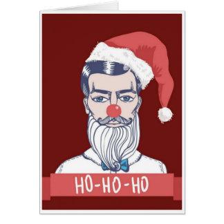 Cartes Noël - police sociale Père Noël de médias