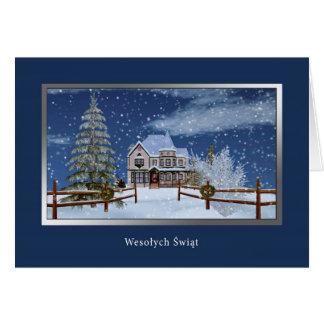 Cartes Noël, polonais, Wesołych Świąt
