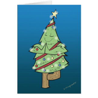 Cartes Noël - pose d'arbre de yoga