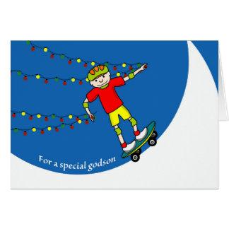 Cartes Noël pour le filleul, le planchiste et les