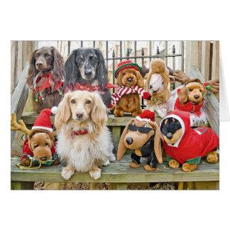 Cartes Noël réunit la famille entière
