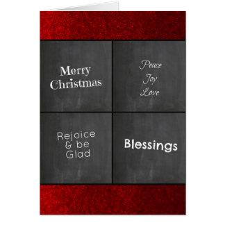 Cartes Noël rouge de parties scintillantes de Faux de
