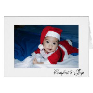 Cartes Noël simple de point de polka de confort et de