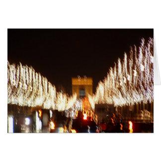Cartes Noël sur le Champs-Elysees à Paris