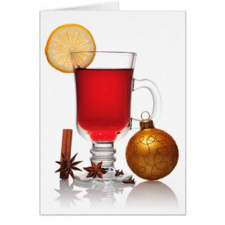 Cartes Noël toujours de vin chaud