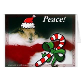 Cartes Noël trapézoïdal de chien de prairie