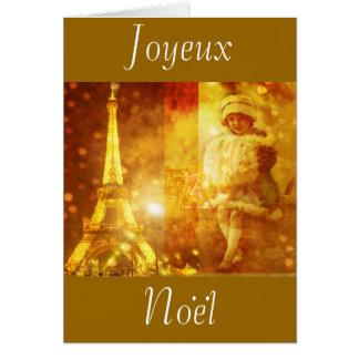 Cartes Noel un collage de Paris