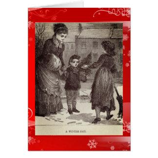 Cartes Noël victorien vintage de l'anglais de jour