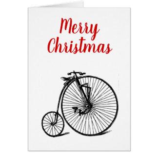 Cartes Noël vintage de vélo de bicyclette de vélo sur