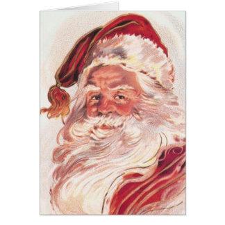 Cartes Noël vintage le père noël