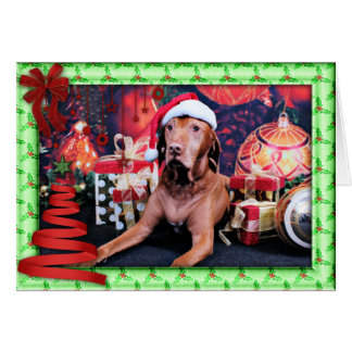Cartes Noël - Vizsla - Budda