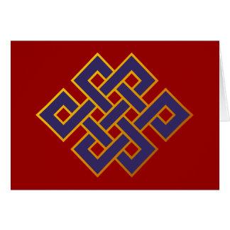 Cartes Noeud éternel de bouddhisme bleu de karma de