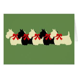 Cartes Noir de Terrier de 6 écossais/blond comme les