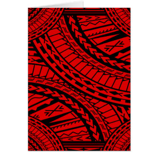 Cartes Noir rouge d'art aztèque tribal