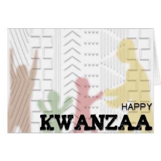 Cartes Noir vert rouge de Kwanzaa de boue de conception