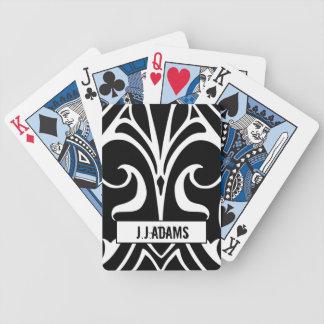 Cartes noires d'as cartes à jouer