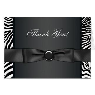 Cartes noires de Merci de zèbre de cravate d'arc