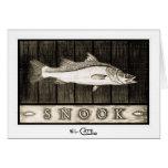 Cartes noires de Snook et blanches vintages de sal