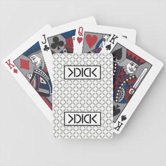 Cartes noires de tisonnier de bicyclette de KDICK Jeu De Poker