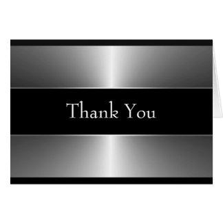 Cartes noires et argentées de Merci