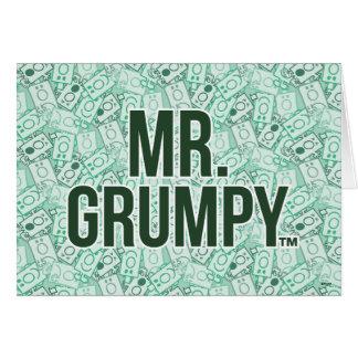 Cartes Nom de M. Grumpy | et motif verts de lancer de