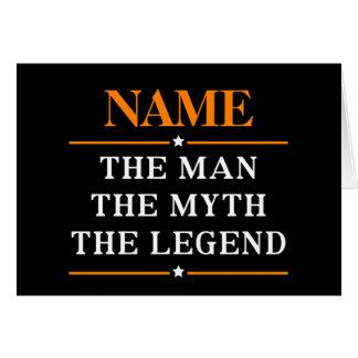 Cartes Nom personnalisé l'homme le mythe la légende