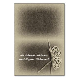 Cartes nominatives d'endroit de mariage avec les
