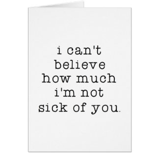 Cartes Non malade de vous