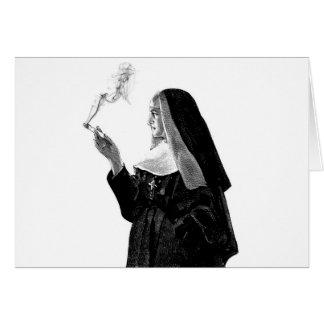 Cartes Nonne de tabagisme vilaine
