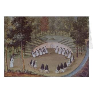 Cartes Nonnes se réunissant dans la solitude